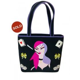 Lulu Guinness - A Fabulous Rare  Handbag - Lady at Casino 1990s