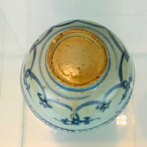 16th Century Ming Dynasty Chinese Hand Painted Blue and White Bowl