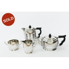A 1944 London Hallmarked Wakeley and Wheeler George VI Sterling Silver  4 piece Tea and Coffee Set